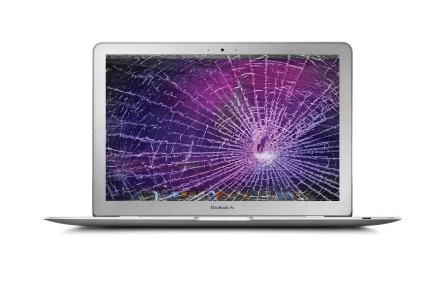 Laptop με σπασμένη οθόνη