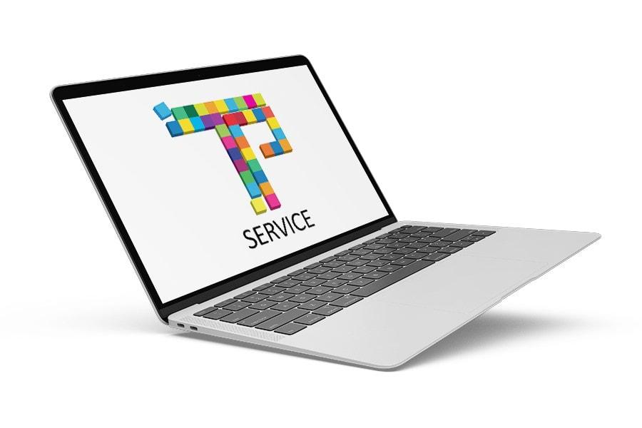 Φορητός υπολογιστής - laptop με logo του TechPassion Service