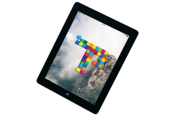 Tablet με φόντο και λογότυπο του TechPassion Service